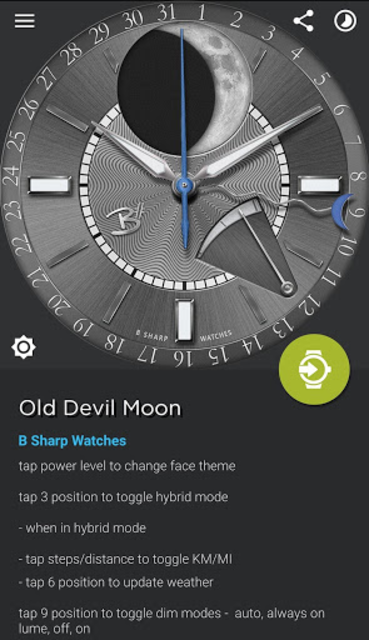 Old Devil Moon - watch face for smart watches screenshot 5
