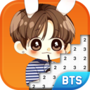 Icon for BTS Army Pixel Art - Number Coloring Books