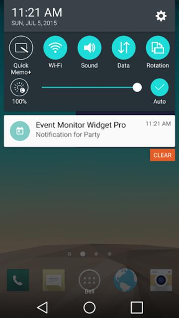 Event Monitor Widget Pro screenshot 5