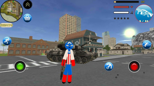 Stickman US Capitaine Rope Hero Gangster Crime screenshot 1
