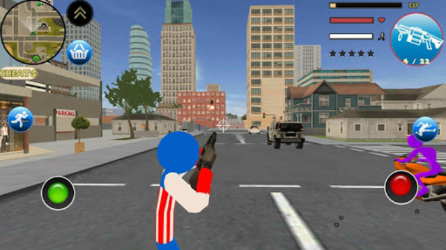 Stickman US Capitaine Rope Hero Gangster Crime screenshot 2