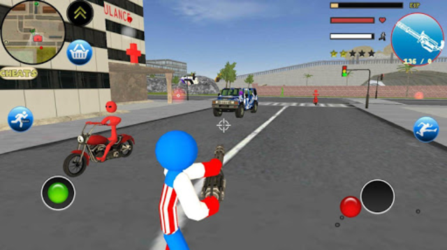 Stickman US Capitaine Rope Hero Gangster Crime screenshot 3