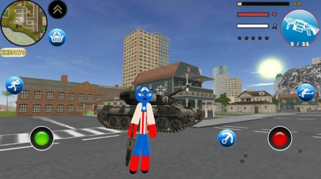 Stickman US Capitaine Rope Hero Gangster Crime screenshot 4