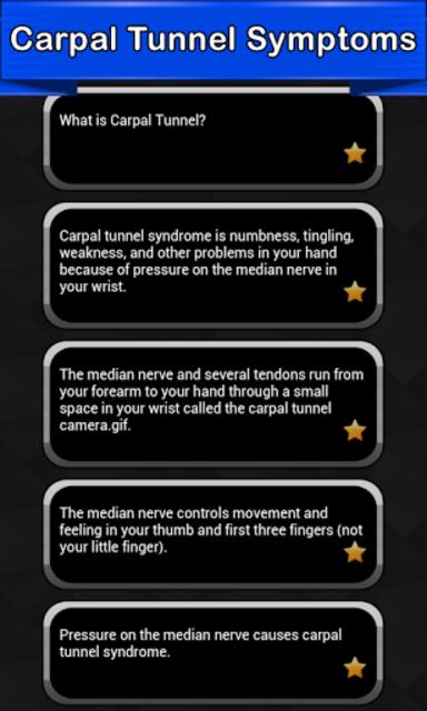 Carpal Tunnel Symptoms screenshot 1