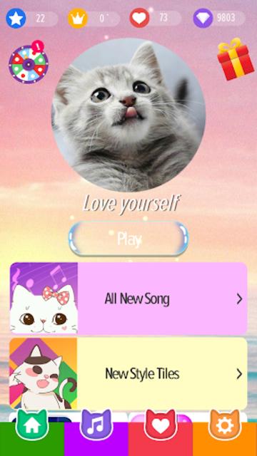 Pink Cat Piano - Magic Girly Piano Tiles Cat screenshot 1