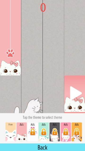 Pink Cat Piano - Magic Girly Piano Tiles Cat screenshot 5