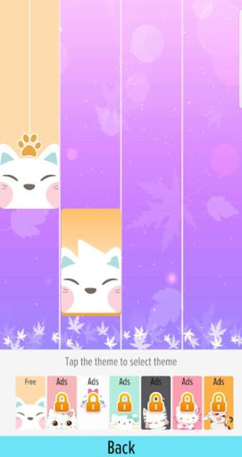Pink Cat Piano - Magic Girly Piano Tiles Cat screenshot 7
