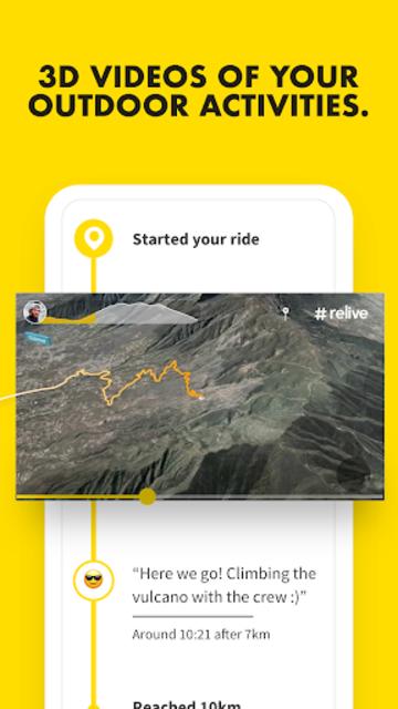 Relive: Run, Ride, Hike & more screenshot 1