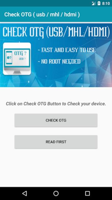 Check OTG ( usb / mhl / hdmi ) screenshot 2
