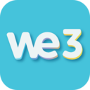 Icon for We3 - Meet new people & make friends, 3 at a Time