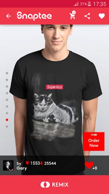 T-shirt design - Snaptee screenshot 1