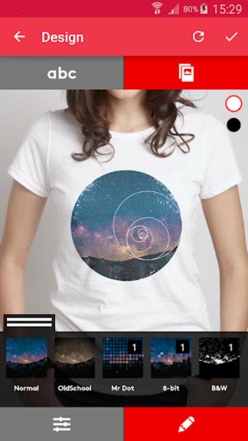 T-shirt design - Snaptee screenshot 2