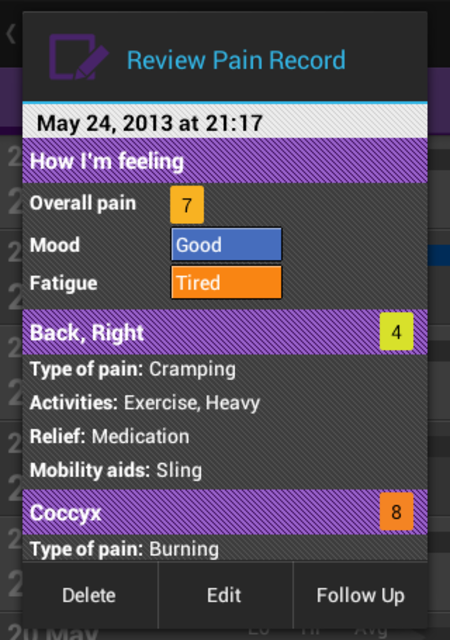 FibroMapp Pain Manager + screenshot 6