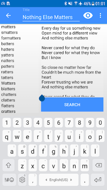 Write Your Own Song - Rhymes Finder screenshot 3