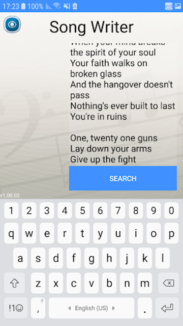 Write Your Own Song - Rhymes Finder screenshot 1