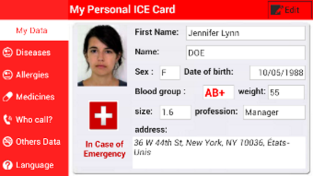 My Personal ICE Card screenshot 1