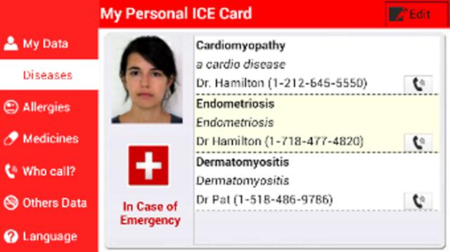 My Personal ICE Card screenshot 2