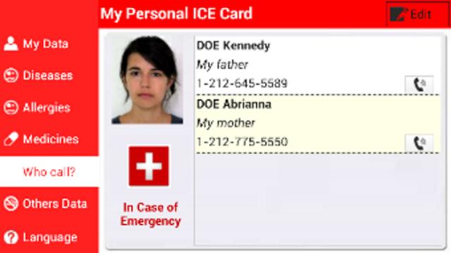 My Personal ICE Card screenshot 4