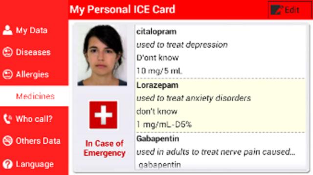 My Personal ICE Card screenshot 5