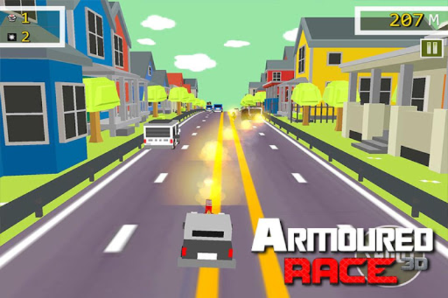 Armoured Race - Road Shooter screenshot 1