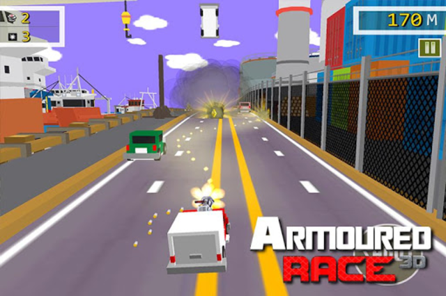 Armoured Race - Road Shooter screenshot 2