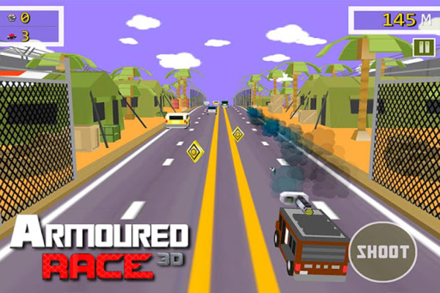 Armoured Race - Road Shooter screenshot 3