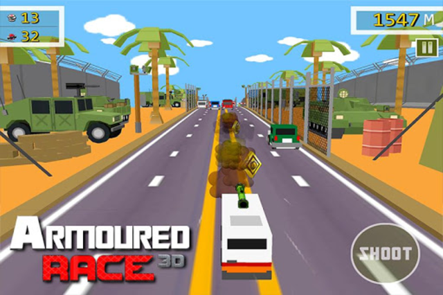 Armoured Race - Road Shooter screenshot 4