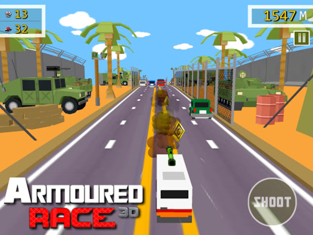 Armoured Race - Road Shooter screenshot 9