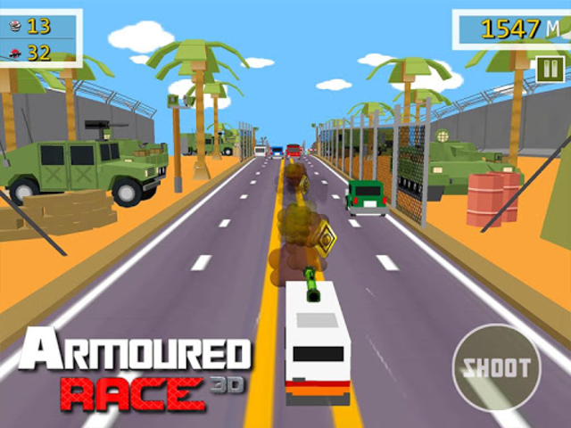 Armoured Race - Road Shooter screenshot 14