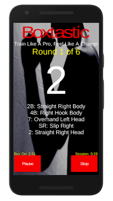 Boxtastic: Boxing Training Workouts For Punch Bags screenshot 2