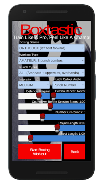 Boxtastic: Boxing Training Workouts For Punch Bags screenshot 4