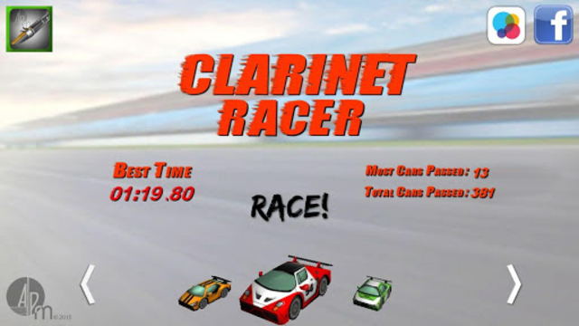 Clarinet Racer screenshot 2