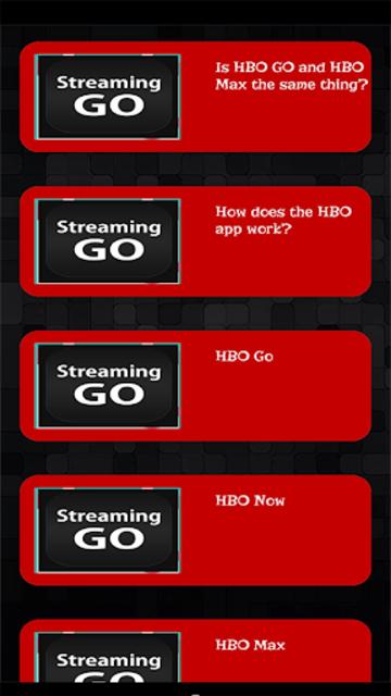 Streaming Guide for HBO GO TV screenshot 3