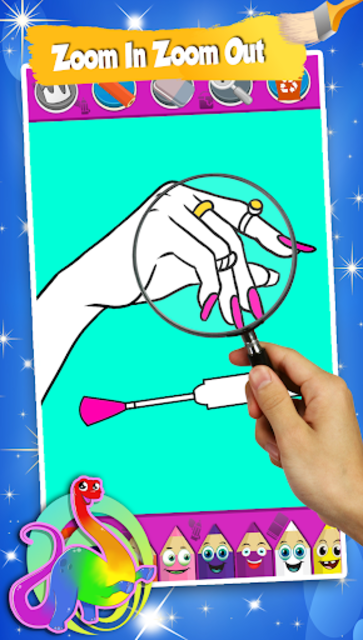 Beauty Coloring Book For Kids - ART Game screenshot 15