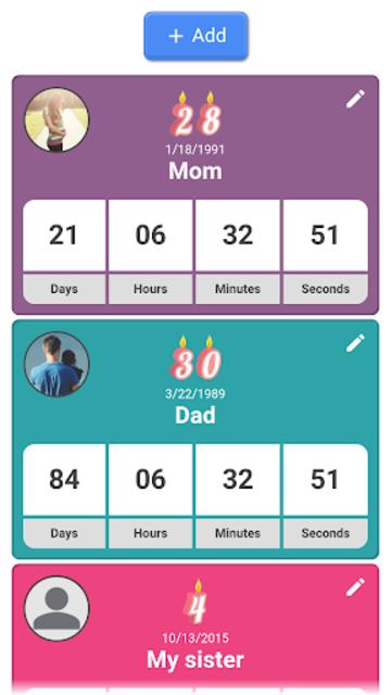 Birthday Countdown screenshot 2