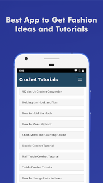 How to Learn Crochet Step by Step Easy Offline screenshot 1