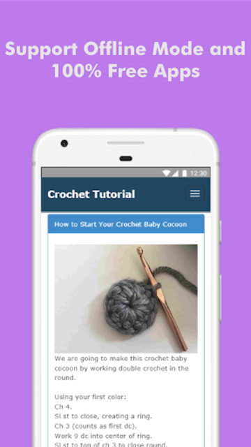 How to Learn Crochet Step by Step Easy Offline screenshot 4