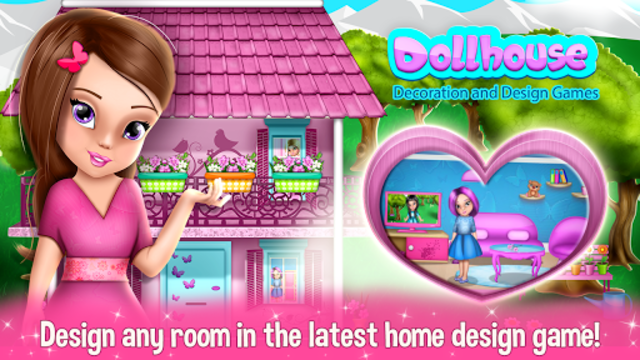 Dollhouse Decoration and Design Games 🏠 screenshot 1