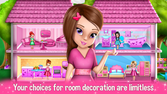 Dollhouse Decoration and Design Games 🏠 screenshot 5