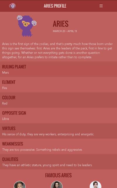 Aries Horoscope screenshot 17