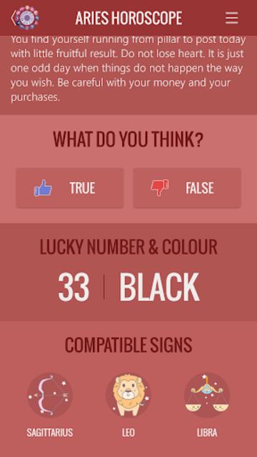 Aries Horoscope screenshot 3
