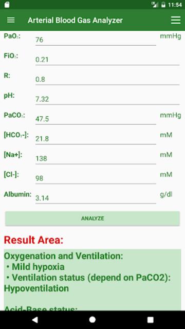 ABG Analyzer (Pro) screenshot 1