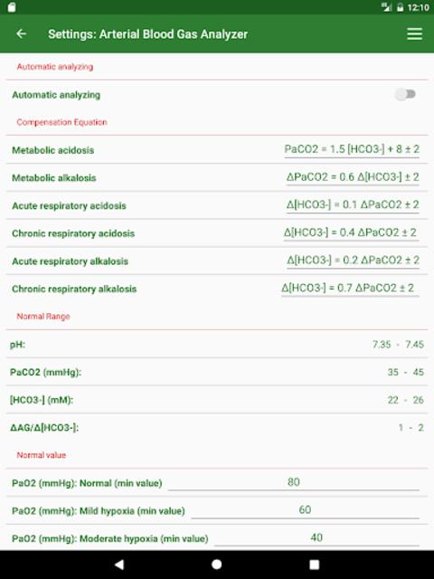 ABG Analyzer (Pro) screenshot 14
