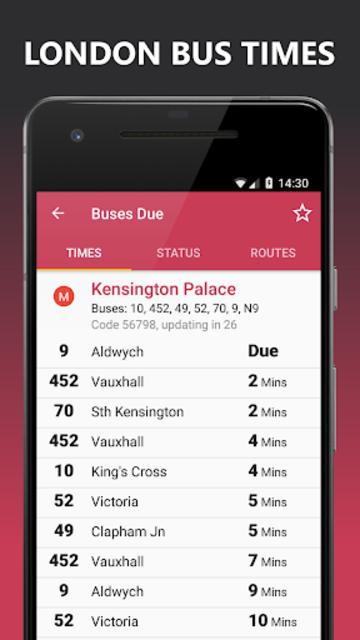 Buses Due: London bus times & TfL city map planner screenshot 1