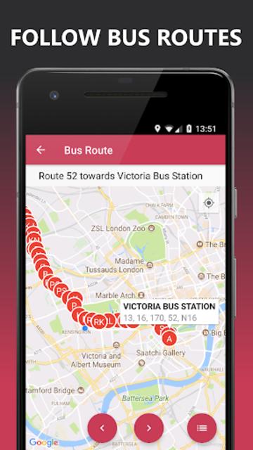 Buses Due: London bus times & TfL city map planner screenshot 5