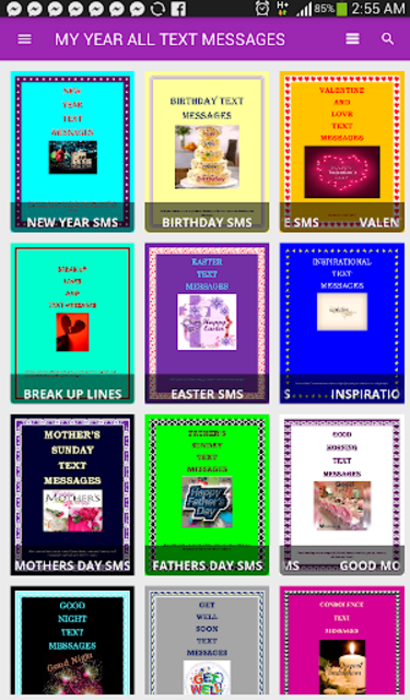 Text messages for all occasions (free) screenshot 2