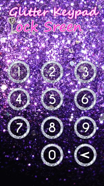 Glitter Keypad Lock Screen screenshot 5