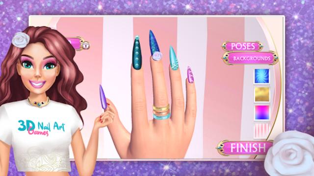 3D Nail Art Games for Girls screenshot 2