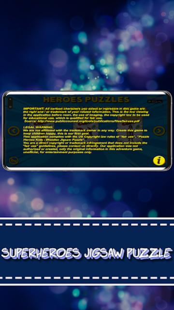 Superheroes Puzzles - Wooden Jigsaw Puzzles screenshot 4