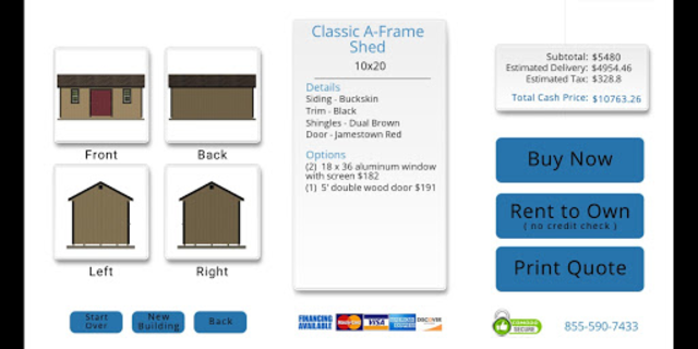 The Shed Yard 3D Customizer screenshot 3
